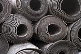 Rolls of black foam — Stock Photo