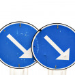 Two blue road signs — Stock Photo