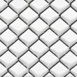 Stock Photo: Chainlink fence with snow