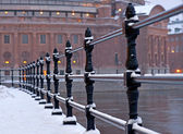 Stockholm parliament building in winter — Stock Photo