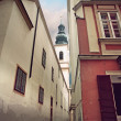 Narrow street in Vienna - Stock Photo