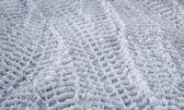 Stopy pneumatik ve sněhu — Stock fotografie