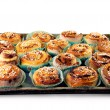 Stock Photo: Tray with home made cinnamon rolls