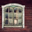 Wooden wall with window — Stock Photo #19908763
