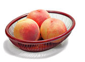 Three peaches — Stock Photo