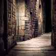 Stock Photo: Dark alley