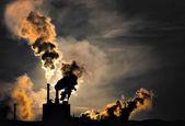 Fabbrica inquinante — Foto Stock