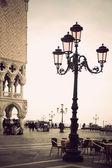 Lamp post in venice — Stock Photo