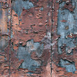 Stock Photo: Wooden wall with flaking paint