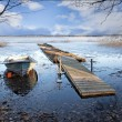 Stock Photo: Boat in early spring