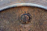 Beczka oleju zardzewiały — Zdjęcie stockowe