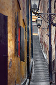 Narrow staircase in Stockholm — Stock Photo