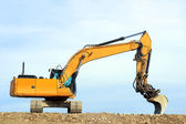 Dredge on a building site — Stock Photo