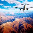 Aircraft in mountain landscape — Stock Photo