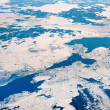 Sea with ice from above — Stock Photo