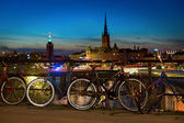 Bikes in Stockholm — Stock Photo