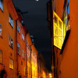 Stockholm street in moonshine — Stock Photo #31665361