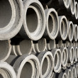Stack of concrete drainage pipes — Stock Photo #32163351