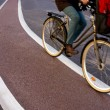 Stock Photo: Cyclist in blurred motion