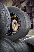 Heap of tires — Stock Photo