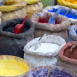 Sacks with paint pigment — Stock Photo