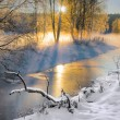 Small river in winter — Stock Photo