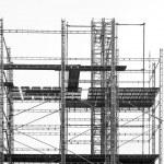 Scaffolding on gray sky — Stock Photo #38272059
