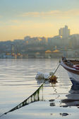 Moored boat in Golden Horn — ストック写真