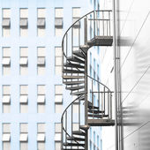 Spiral staircase in urban area — Stock Photo