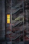 Brick wall with window — Stock Photo