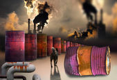 Polluting factory — Stock Photo
