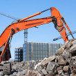 Digger at building site — Stock Photo