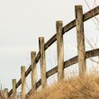Wooden fence in rural landscape — Stock Photo #42697629