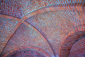 Vaulted brick ceiling — Stock Photo