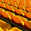 Empty yellow seats at sports stadium — Stock Photo #51312773