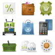Royalty-Free Stock Vector Image: Shopping vector icons