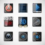 Video vector icons — Stock Vector