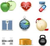 Fitness vector icon set — Stock Vector