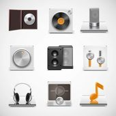 Music vector icons — Stock Vector