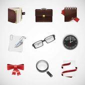 Tkanina wektor zestaw ikon — Wektor stockowy