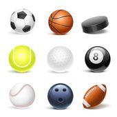 Sport equipment vector icon set — Stock Vector