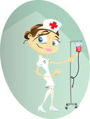Happy Nurse — Stock Vector