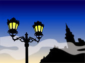 Street lamp Illustration — Stock Photo