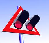 The railway sign — Stock Vector