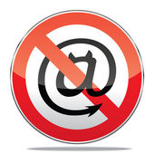 Spam warning sign — Stock Vector