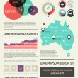 Elements of Infographics with buttons and menus - Stockvektor