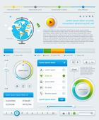 Elements of Infographics with buttons and menus — Stock Vector
