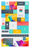 UI is a set of beautiful components featuring the flat design trend — Stockvector