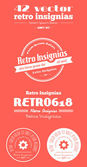 Vector retro insignias, Banners and badges — Stock Vector