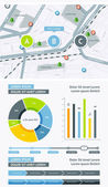 Flat Elements of Infographics — Stock Vector